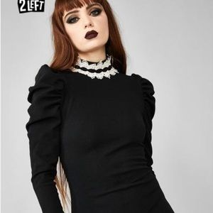Dolls kill black lace dress